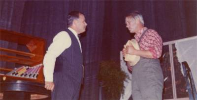 Romano Lavrenčič in Berto Ferletič v Stilmondskem županu