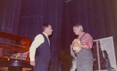 Romano Lavrenčič in Berto Ferletič na odru