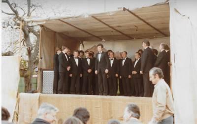 MoPZ Mirko Filej nastopa na Prazniku pomladi (1983).