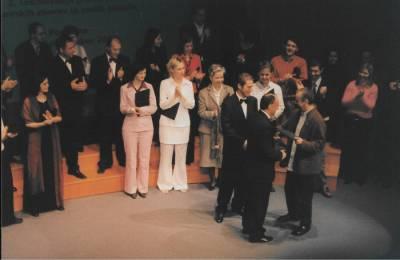 Nagrajevanje na regijskem tekmovanju v Postojni, 2004.
