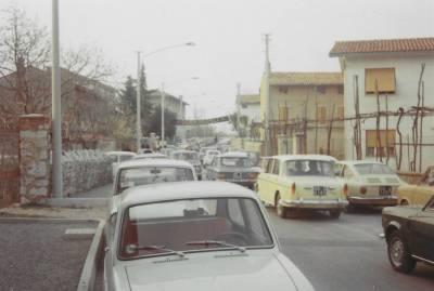 Praznik pomladi 1972. Dobrodošlica številnim obiskovalcem.