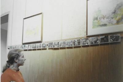 Razstava slik v dvorani, sredi sedemdesetih