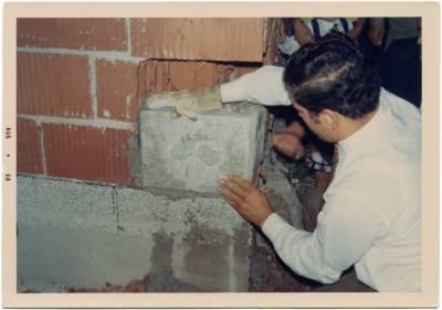 Avgust 1968. Mario Ferletič polaga vogelni kamen.