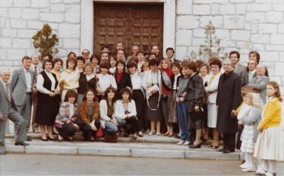 Zbor iz Althofna na obisku v Doberdobu sredi osemdesetih.