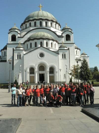 Beograd, cerkev svetega Save. September 2007.