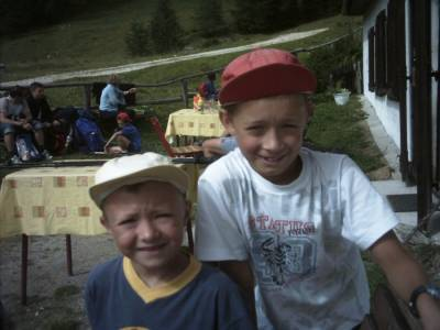 Planina pod Višarjami, 2004. Mihael in Aleš Lavrenčič
