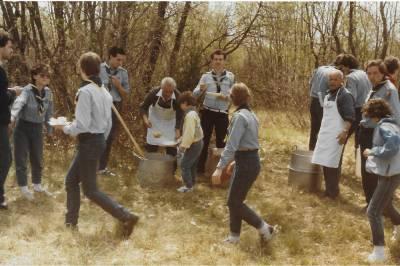 Skavtske obljube v Doberdobu. 1985