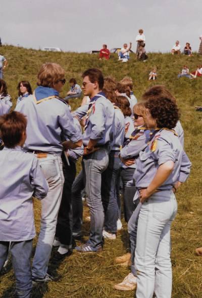 Skavtske obljube v Doberdobu. 1985.