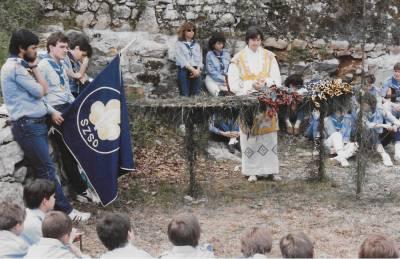 Skavtske obljube v Števerjanu. 1987.