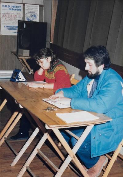 občni zbor SKD Hrast, februar 1987.