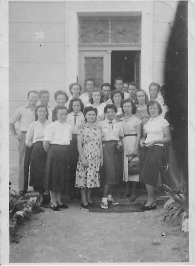 Doberdobski zbor z Adelo Ferletič, v začetku šestdesetih let.