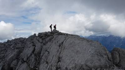 Na vrhu Trbiške krniške špice.